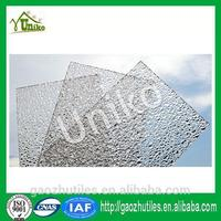 reinforced canopy embossed pc diamond sheet for swim pool cover