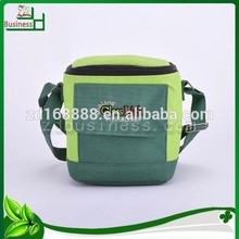 wholesale polyester 600D Embroidery insulated ice bag for wine