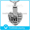 Animal love cremation urn memorial necklaces pendants cremation jewelry for dogs