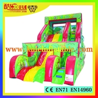 Kule inflatable kids games toy slide inflatable slip and slide for sale/colorful inflatable slide for kids