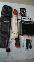 MiniStar Pro Model Lestar Travel Electric Guitar Built in Headphone Amp RED
