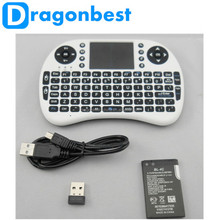 Keyboard Rii i8 fly Air Mouse Remote Control Handheld Keyboard for TV BOX PC Laptop Tablet Mini PC,white color