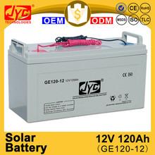 Best design excellent lead acid solar 12v 120ah battery for simple solar system
