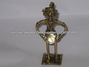brass hand crafted handicraft figure oldest art called dhokra