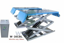 Ultra-thin Car Scissor Lift W-30CBL(flexible ramp)