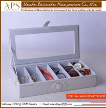 Eyeglasses leather case, Sunglasses Storage leather Box Organizer from China supplier
