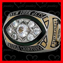 Custom made alliance New York Jets NFL super bowl championship rings for different players