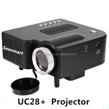 Hottest!!! Cheap Pico Projector UC28 Mini Professional LED Mini Video Projector