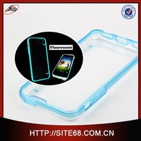 fluorescent custom clear soft plastic combo pc tpu bumper flip mobile cell phone tpu cases for iphone 6 5 4 for s6 s5