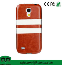 low MOQ cheap pu leather case for galaxy s4 mini case