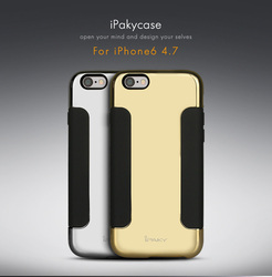 """Wholesale iPaky Luxury Magic Mirror Soft Mobile Cell Phone Case for Apple iPhone 6s + Gold Silver 4.7"""""""
