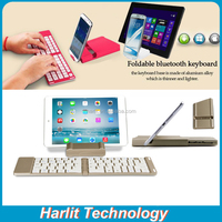 For iPad Pro Mini Foldable Bluetooth Keyboard Case Foldable Bluetooth Keyboard WIth Aluminum Case For iPad Pro