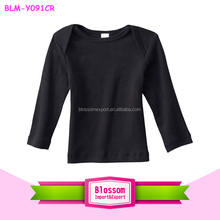 Lovely children lap tank top organic cotton baby t-shirt rib long sleeve t-shirt