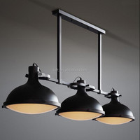 3 heads industrial semispherical matte glass ceiling light with Edison bulb