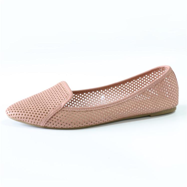 Roman (In) Tasarım Düz Mavi Tuval Baskı Lady Güzel Balerin Ayakkabıları Katlayın Stok