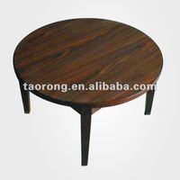 Wooden Simple Designed Round Side Table Wood Coffee Shop Tables