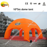 Clear inflatable lawn tent advertising tent