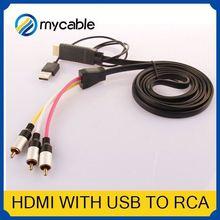 HDMI to 5 RCA RGB Component Cable hdmi female to rca male HDTV Cord Audio AV Video Converter