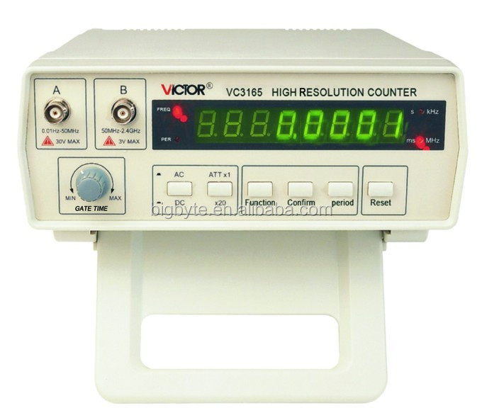 Top Quality 0.01Hz - 2.4GHz Precision Frequency Meter Frequency Counter VICTOR VC3165