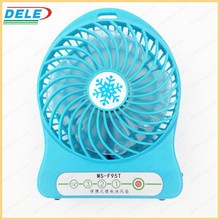Portable Rechargeable MIini USB Fan with LED Clock