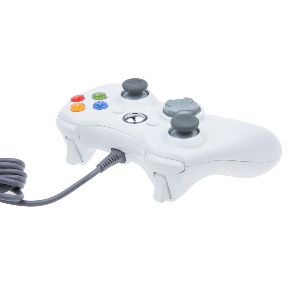 новый черный белый usb проводной игровой контроллер контроллер джойстика джойстик для xbox 360 slim аксессуар pc компьютер windows 7 свободный корабль