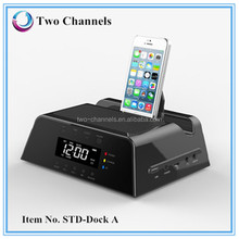 new gadgets 2014 remote control bluetooth speaker docking station for iphone SD card/TF/FM/line-in