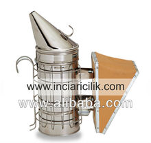 STAINLESS STEEL SMOKER WITH CAGE( LEATHER)