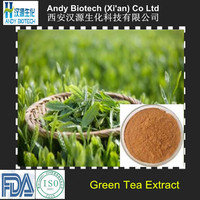Polyphenol 98%, Catechins 80%, EGCG 50% Pure Bio Green Tea Extract Powder