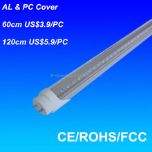 Made in china cabinet 24w 1500mm 5 feet 4000K 360 degree t8 led light tube