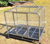 Large size stainless steel dog cage with wheels