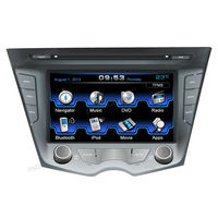 for Hyundai Veloster two din car DVD player with gps navigation system