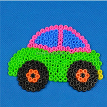 Education products car shaped hot beads iron beads Peg boards