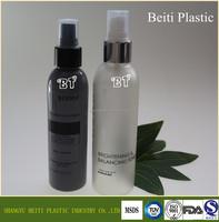 5oz /150ml empty plastic PET toner bottle gold aluminium fine mist spray bottle