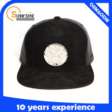 wholesale hip hop hats leather corduroy mix with metal back closure snapback caps