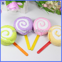 wedding gift cake towel/lollipop shape towel cake