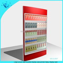 Large acrylic wall mounted smoke display case and plexiglass hang display case