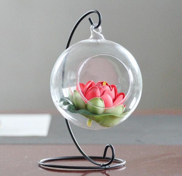 hängen glas blumenvase knistern glaskugeln solide glaskugel