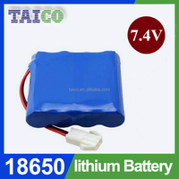 Rechargeable Cell 18650 7.4V 4000mAh LiFePO4 Battery 4AH Packs for Electric Vehicles