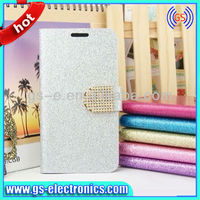 new fashion accessories Luxury leather case for Samsung S5 wallet leather case with diamond bottom