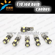 Factory Supply t10 5w5 canbus car led auto bulb T10 cob Available