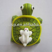 Polymer clay cute turtle fridge magnet gift