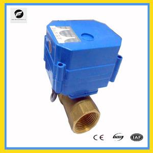 24 V puerto completo actuador eléctrico bola vavle DN25 CWX-15 serie 2way/3way latón