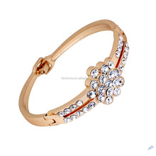 Gold Plated Crystal Rhinestone alloy bracelet lady bangle bracelets wholesale yiwu jewelry manufacturer