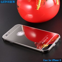 LETSVIEW Luxury Bling Mirror TPU Soft Gel Case Skin Cover for Apple iPhone 5 5S 6 6 Plus