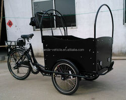 2015 hot sale dutch electric tricycle/ cargo tricycle china/ family cargo tricycle for kids