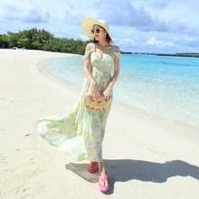 la diosa sexy impresión v cuello halter de seda slim falda de la playa en verano