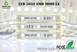3 chips 5050 SMD led module RGB led module IP65/ 12V 0.72W LED module RGB with 3M adhesive/ Super bright LED module