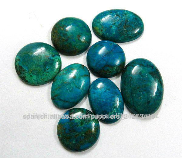 Chrysocolla cabuj n suelta piedra preciosa natural para - Tipos de piedras naturales ...
