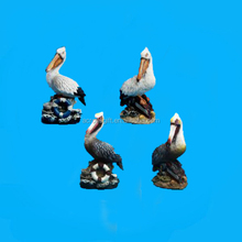 hand made polyresin pelican figurines