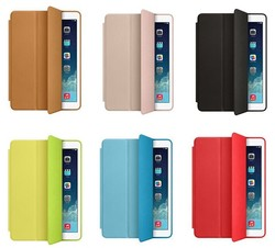 Hot! For iPad Air 2 Genuine leather Stand Case Cover, Smart Wake Sleep Folio Flip Leather PC Case For iPad